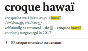 croque hawaï
