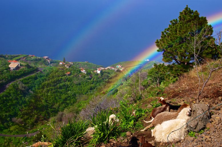 regenboog La Palma