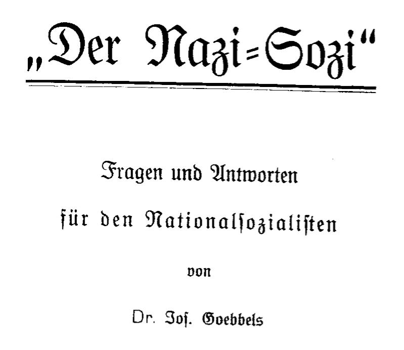 Der Nazi-Sozi