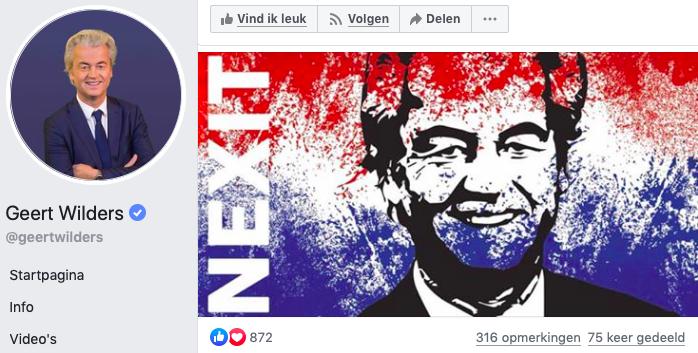 Geert Wilders wil dat nexit Nexit wordt.