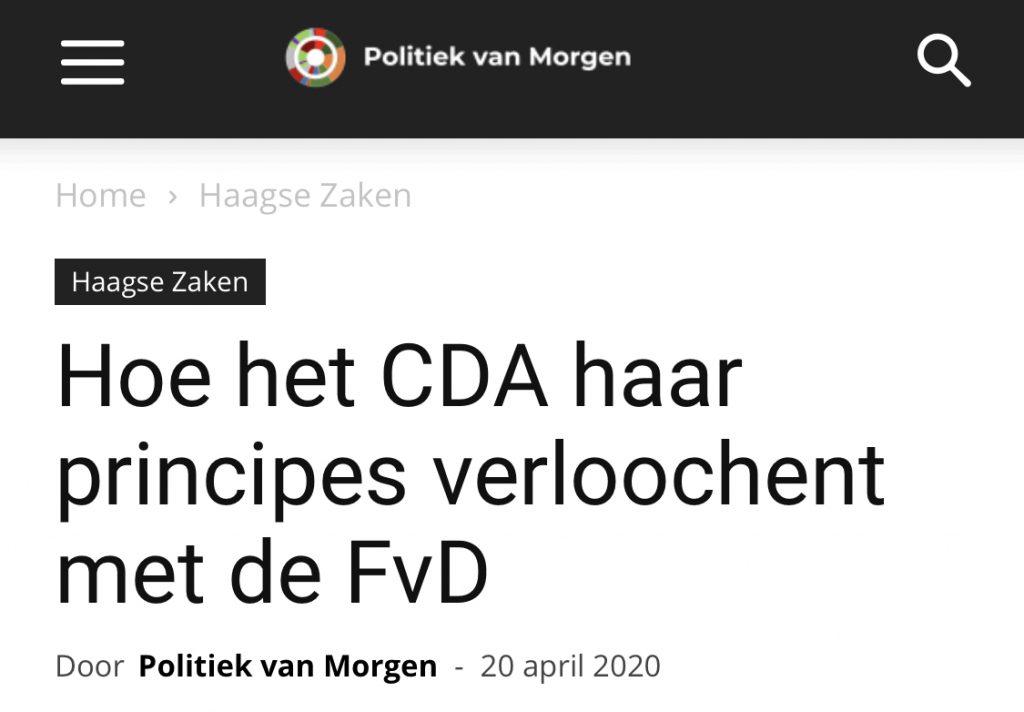Het CDA, haar principes