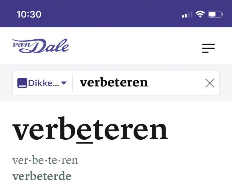 Van Dale Nederlands verbeteren